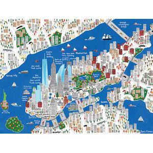 """New York"" Printed Canvas by Jamie Malone, 80x60 cm"