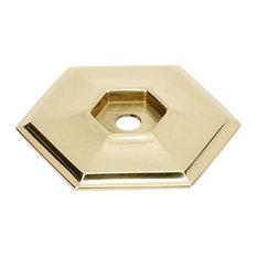 "Alno Backplate Modern 1-5/8"" in Polished Brass"