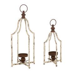 Set of 2 Farmhouse Metal Lantern