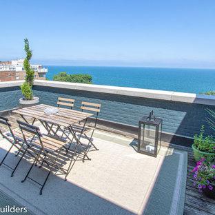 Small minimalist apartment balcony photo in Cleveland