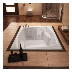 "Venzi Capri 54""x72"" Rectangular Air and Whirlpool Jetted Bathtub, Right Drain"