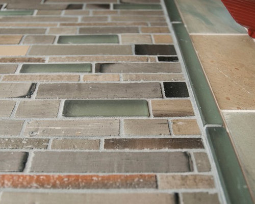 Mixed stone and glass brick - Tile