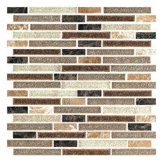 "12""x12"" Florence Lady Mosaic, Set of 10"