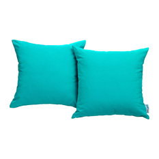 Convene Two Piece Outdoor Patio Pillow Set, Turquoise
