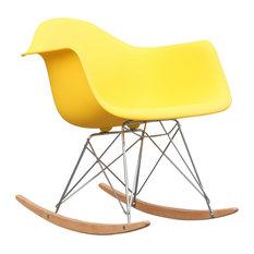 Fine Mod Imports Rocker Armchair, Yellow