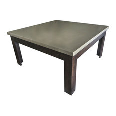 Trueform Concrete Square Concrete Coffee Table Limestone 42x42 Coffee Tables