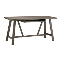 """Dylan Solid Wood  60""""  Writing Office Desk, Driftwood"""