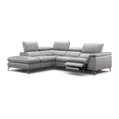 Jnm Furniture Viola Italian Leather Sectional Sofa With Recliner Left Hand Facing