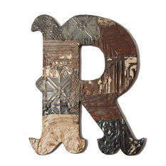 rayne mirrors antique tin letter r large wall letters