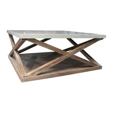 - Max Sparrow - Montauk Sqaure Cocktail Table - Coffee Tables