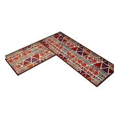2-PieceDecorative Non-Slip Kitchen Rugs Kitchen Floor Mats Area Rugs
