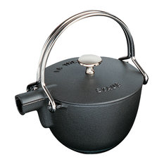 Staub Cast Iron 1-qt Round Tea Kettle - Matte Black