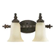 """Quorum Alameda 2-LT 19"""" Vanity Light 5386-2-86 - Oiled Bronze"""