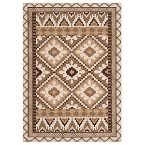 Tikota Indoor/Outdoor Rug, Cream and Brown, 121x170 cm
