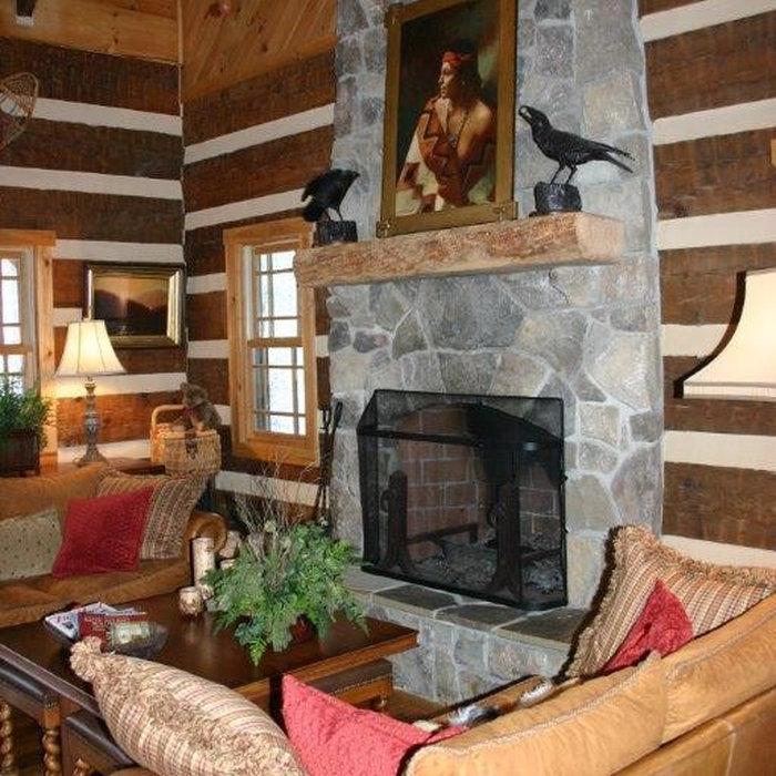 Rustic Log Cabin Ski Lodge