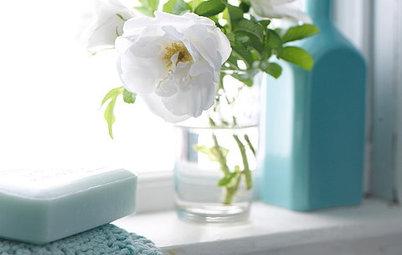 透明のガラス花瓶で楽しむ、アレンジ27選