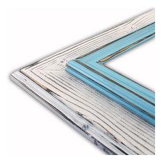 "Morgan White Aqua Picture Frame, Solid Wood, 16""x20"""