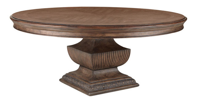"""donabella 72"""" round dining table - traditional - dining tables -"""