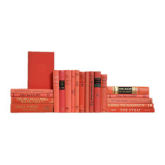 Midcentury Coral Book Set, S/20