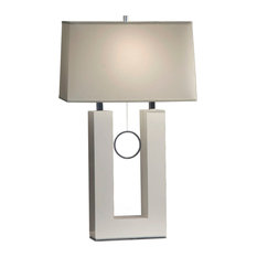 NOVA Of California   Earring Table Lamp With White Shade   Table Lamps