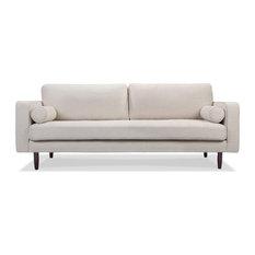 MOD   Eben Clemente Fabric Sofa, White   Sofas