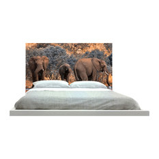 -inchElephant At Watering Hole-inch Headboard