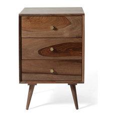 Draper 3-Drawer Wooden Nightstand