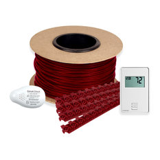 Floor Heating Kit 120V Tempzone Cable System, Non Programmable Thermostat, 50'