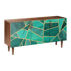 Emerald Envy Dowel Sideboard Walnut/Walnut