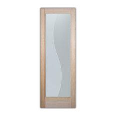 "Interior Door, Divise Stripes, 1D Frosted, Douglas Fir, 28x80"", Book/Slab"
