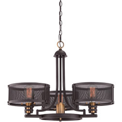 Beautiful Industrial Chandeliers by Quoizel