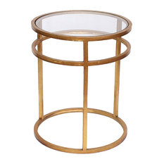 Homeroots Furniture Teton Home Minimalist Gold Coffee Table Af-118 by HomeRoots Furniture