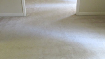 Old look with carpet that needed to be restretched!