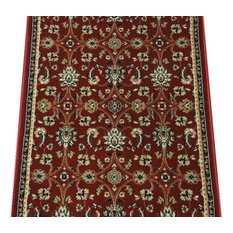 "Radiance Traditional Stair Runner Crimson, 26""x1' Rug Runner"