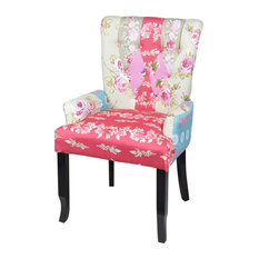 VidaXL   Patchwork Armchair Fabric Upholstery   Armchairs And Accent Chairs