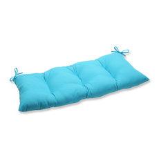Veranda Turquoise Wrought Iron Loveseat Cushion