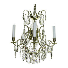 Baroque chandeliers houzz gustavian style ebony and crystal baroque chandelier polished brass chandeliers aloadofball Image collections
