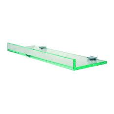 """Tetris Glass Shelf, Chrome, 16"""""""