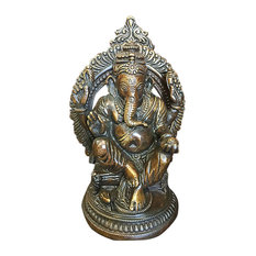 Mogul Interior - Ganesh Statue Ganesha Sculpture Indian Art Hindu Decor Spiritual Figurine Idol - Decorative Objects And Figurines