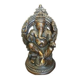 Mogul Interior - Ganesh Statue Ganesha Sculpture Indian Art Hindu Decor Spiritual Figurine Idol - Decorative Objects And Figurines