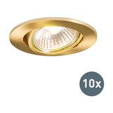 Set of 10 Recessed Spotlight Cisco Matte Gold
