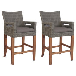 Tropical Outdoor Bar Stools And Counter Stools by Outdoor Interiors