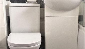 Small Bathroom with Hexagon Tiling