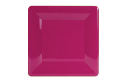 Fuchsia Lacquer Large Square Plate Charger