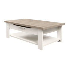 Toscane Coffee Table, Bleached Ash