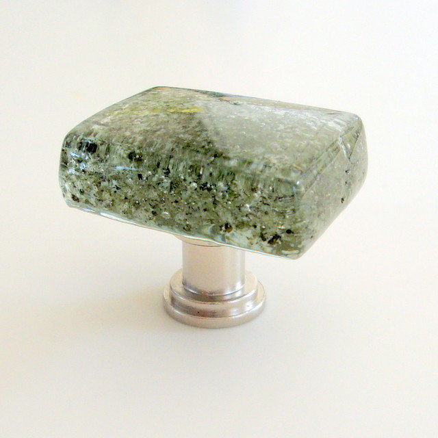 Fused Glass Forest Cabinet Pull Knob Hardware