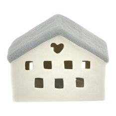 Light-Glow Mini House With LED, Grey