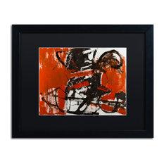 """Joarez 'Black Horse' Framed Art, Black Frame, 16""""x20"""", Black Matte"""