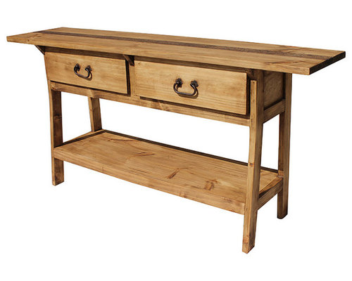 Rustic Pine Foyer Table : Rustic pine furniture for your hacienda