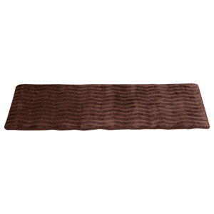 24 X60 Memory Foam Extra Long Bath Mat By Lavish Home Faux Linen Fleece Transitional Kitchen Mats By Trademark Global